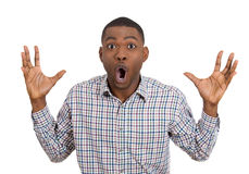 Surprised shocked man Royalty Free Stock Photos