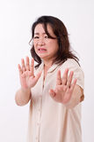 Surprised, shocked, stunned middle age woman Royalty Free Stock Photo
