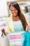 Surprised shopping woman Royalty Free Stock Photos