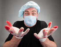 Surprised sick surgeon Stock Photos