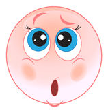 Surprised smiley. Stock Image - pink vector smiley surprised Stock Photos
