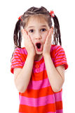 Surprised smiling little girl Royalty Free Stock Image