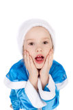 Surprised Snow Maiden Stock Photo