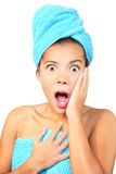 Surprised spa woman Royalty Free Stock Photo