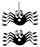 A surprised spider with shoes Royalty Free Stock Photos