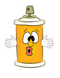 Surprised spray can cartoon Royalty Free Stock Images