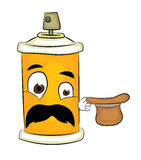 Surprised spray can cartoon Stock Photography