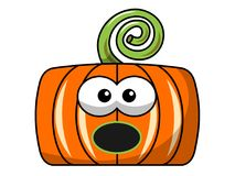 Surprised Square halloween pumpkin isolated Royalty Free Stock Photos