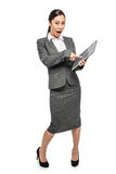 Surprised Startled Asian Woman in Business Suit Royalty Free Stock Image
