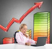 Surprised by the statistics Stock Photography