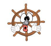 Surprised steering wheel illustration Stock Image