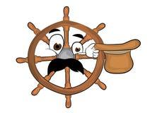 Surprised steering wheel illustration Stock Photo