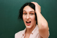 Surprised student Royalty Free Stock Image