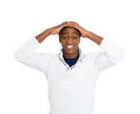 Surprised stunned man Stock Images