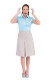 Surprised stylish businesswoman posing Stock Photo