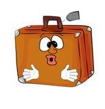 Surprised suitcase cartoon Royalty Free Stock Photo