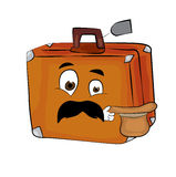Surprised suitcase cartoon Royalty Free Stock Photography