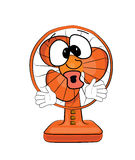 Surprised table fan cartoon Stock Image