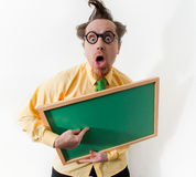 Surprised teacher Stock Image
