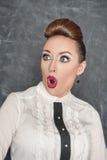 Surprised teacher Royalty Free Stock Image