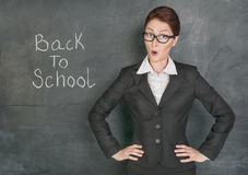 Surprised teacher Royalty Free Stock Image