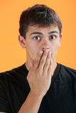 Surprised Teen Royalty Free Stock Photography