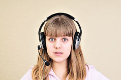 Surprised teen girl Stock Photos