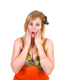Surprised teen girl. Stock Photos