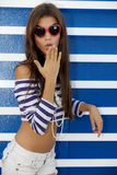 Surprised teen girl Stock Photos