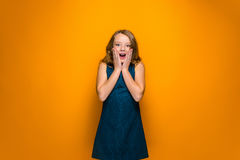 The surprised teen girl Stock Image