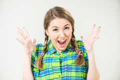 Surprised teen portrait Royalty Free Stock Photography