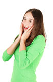 Surprised teenage girl Stock Image