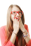 Surprised teenage girl Stock Photography