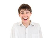 Surprised Teenager Portrait Stock Images