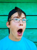 Surprised Teenager Portrait Royalty Free Stock Images