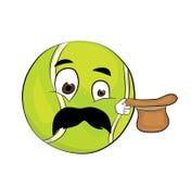 Surprised tennis ball cartoon Royalty Free Stock Photo