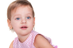 Surprised toddler with big blue eyes Stock Photography