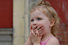 Surprised Toddler Girl Royalty Free Stock Photography