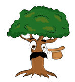 Surprised tree cartoon Stock Photography