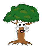 Surprised tree cartoon Royalty Free Stock Photo