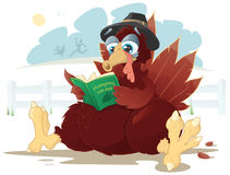 Surprised Turkey. This poor pilgrim turkey has just realized that his days may be numbered Royalty Free Stock Image
