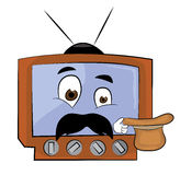 Surprised tv cartoon Royalty Free Stock Images