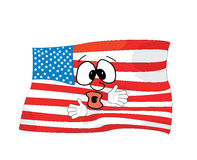 Surprised united states of america cartoon Stock Photography