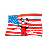 Surprised united states of america cartoon Stock Image