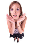 The surprised woman. Royalty Free Stock Photography