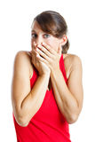 Surprised Woman Royalty Free Stock Photography