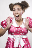 Surprised woman Royalty Free Stock Image