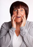 Surprised woman Royalty Free Stock Photos