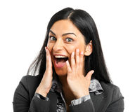 Surprised woman Royalty Free Stock Image
