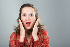 Surprised woman. Royalty Free Stock Photos